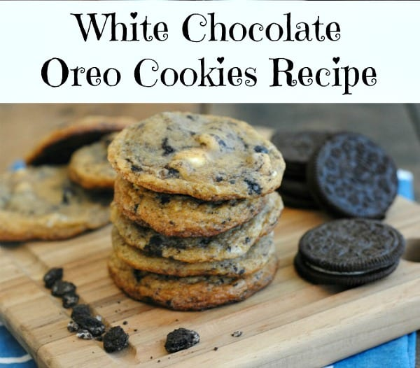 Delicious Dishes Recipe Party - Favorite Cookies and Bars - White Chocolate Chip and Oreo Chunk Cookies from IGOBOGO | CookingInStilettos.com