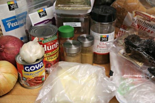 Chicken Mole Burger - Ingredients | CookingInStilettos.com
