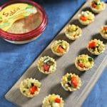 Garlicky Grilled Veggie Mini Tarts | CookingInStilettos.com