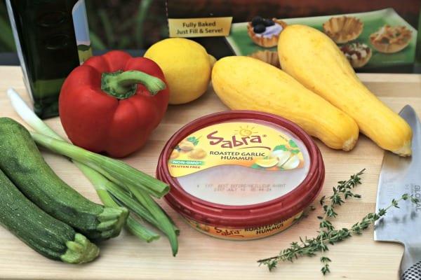 Garlicky Grilled Veggie Mini Tarts - Ingredients | CookingInStilettos.com