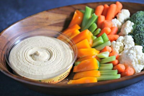 Garlicky Grilled Veggie Mini Tarts -Sabra Classic Hummus and Veggies | CookingInStilettos.com
