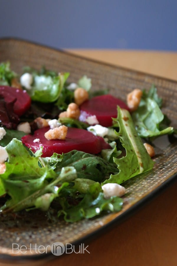 Delicious Dishes Recipe Party - Salad Recipes - Goat Cheese Beet Spring Salad from Food Fun Family | CookingInStilettos.com