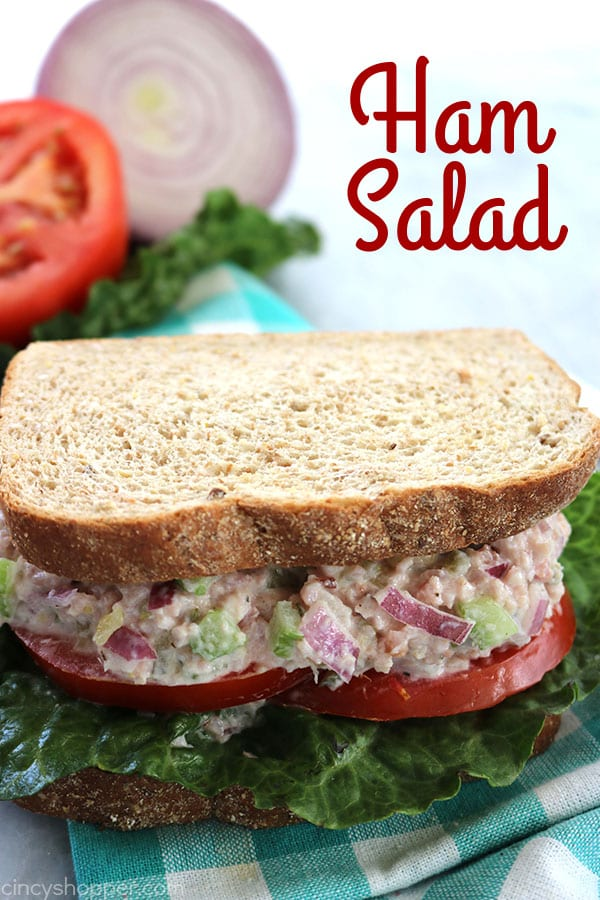 Delicious Dishes Recipe Party - Tasty Sandwiches - Ham Salad Sandwich from Cincy Shopper | CookingInStilettos.com