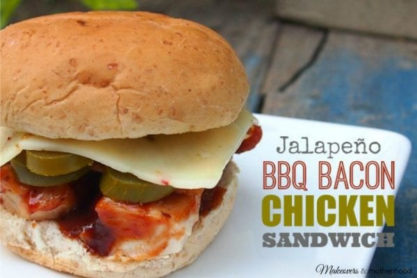 Delicious Dishes Recipe Party - Tasty Sandwiches - Jalapeno BBQ Bacon Chicken Sandwich from Makeovers and Motherhood | CookingInStilettos.com