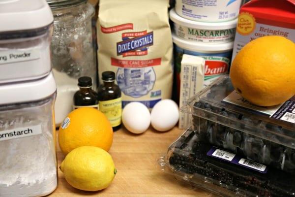Lemon Baked Blintzes with Summer Berry Compote - Ingredients | CookingInStilettos.com
