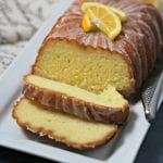 Meyer Lemon Greek Yogurt Loaf with Lemon Vanilla Glaze | CookingInStilettos.com