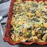 Spinach Artichoke and Asparagus Strata #BrunchWeek