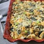 Spinach Artichoke and Asparagus Strata #BrunchWeek