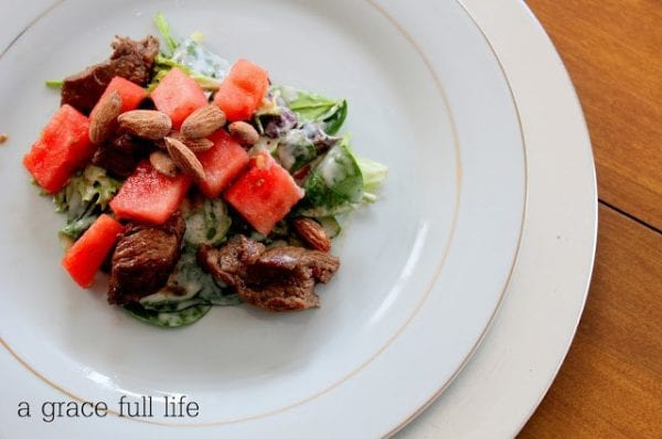 Delicious Dishes Recipe Party - Salad Recipes - Steak Salad from A Gracefull LIfe | CookingInStilettos.com