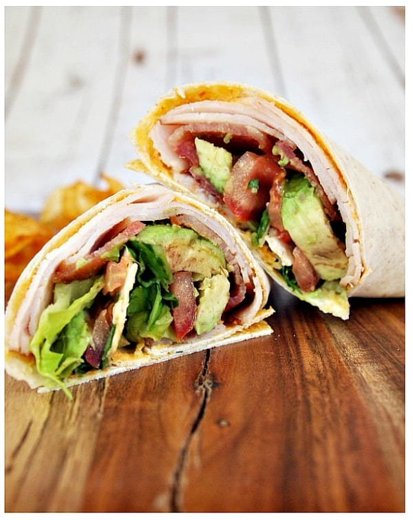 Delicious Dishes Recipe Party - Tasty Sandwiches - Bacon Turkey Club Wrap | CookingInStilettos.com