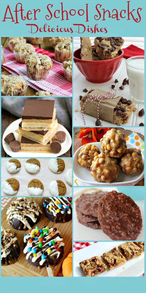 Here are some of the best homemade after school snacks at this week's Delicious Dishes Recipe Party.  Share your favorite snack recipes with us! | After School Snacks | Snack Recipes | Sweet Treats | Homemade Snacks