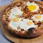 Epic Bacon Croque Madame Pizza | CookingInStilettos.com